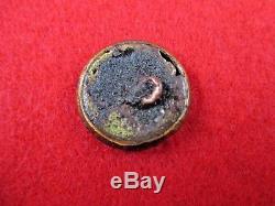 CIVIL War Confederate Rb Republican Blues Coat Button Recovered Savannah Ga