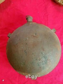 CIVIL War Confederate Tin Canteen With Cork Stopper