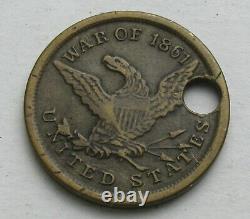 CIVIL War Dog Tag CIVIL War ID New Hampshire Volunteers 14th Regiment ID Disc