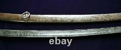 CIVIL War M 1840 Cavalry Sword With Confederate Etching On Blade Made By K&c