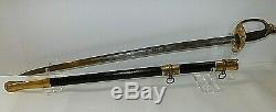 CIVIL War M 1850 Ames Foot Officer Sword 1 Of 575 Made Dated 1862 Very Rare