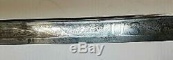 CIVIL War M 1850 Ames Staff & Field Sword Captured By Confederates Bullet Mark