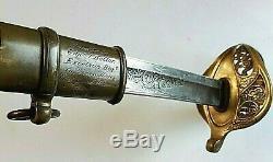 CIVIL War M 1850 Presentation Sword To Captain Joseph Keller Excelsior Brigade