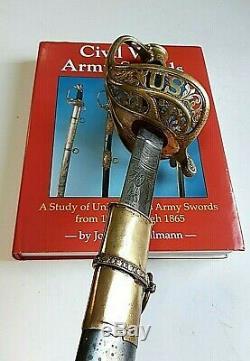 CIVIL War M 1850 Staff & Field Officer Sword Horstmann & Sons Philadelphia