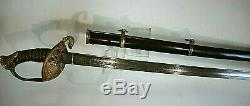 CIVIL War M 1850 Staff & Field Officer Sword Unmarked Emerson & Silver Eagle