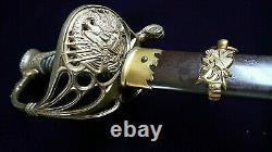 CIVIL War M 1850 Staff & Field Presentation Grade Unmarked Sauerbier Sword 1861