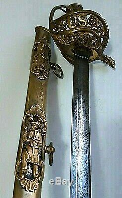CIVIL War M 1850 Staff & Field Presentation Sword Maj L W Sheppard Eagle Head