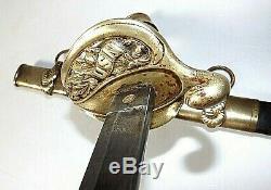 CIVIL War M 1852 Naval Early CIVIL War Sword 1 1/16 Inch Blade One Of 1230 Made
