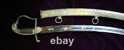 CIVIL War Mexican War High Officer Presentation Grade Sword Eagle Head Sword
