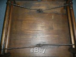 CIVIL War Oak Folding Table Used In Tent By High Ranking Officials 24 X 24 X 27