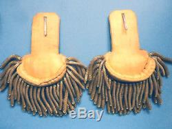 CIVIL War Original Gold Bullion Captains Epaulettes In Orig Figure 8 Box