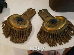 CIVIL War Original Pair Gold Officers Shoulder Boards Epaulets