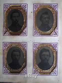 CIVIL War Photo Album Company'c' 19th Wisconsin Union 1864 Veterans