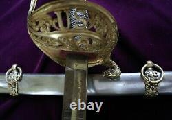 CIVIL War Presentation Grade M 1850 Staff & Field Officer Sword W Eagle Quillon