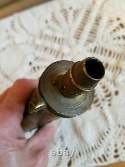 CIVIL War Soldier's Copper Powder Flask By A Batty & Sons Springfield, Mass