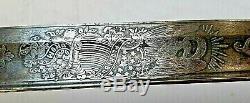 CIVIL War Staff & Field Clauberg Presentation Grade Silver Hilt Damascus Sword