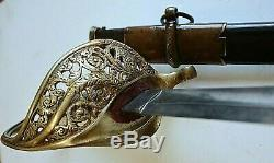CIVIL War Tiffany Staff & Field Officer Sword Made By Collins & Co Hartford 1862