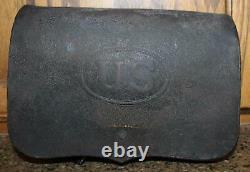 CIVIL War Us Army. 69 Caliber Musket Cartridge Box With Tins