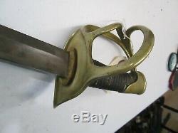 CIVIL War Wristbreaker Heavy Cavalry Sword W No Scabbard Dated 1876
