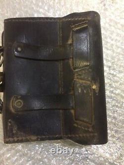 CS Confederate Civil war US Military Gun cartridge box and cap pouch