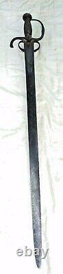 C. 1630 ANTIQUE (SOLINGEN) INFANTRY SWORD. ENGLISH CIVIL WAR ERA HANGER no DAGGER