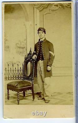 Cdv- CIVIL War Union Soldier Philadelphia Imprint