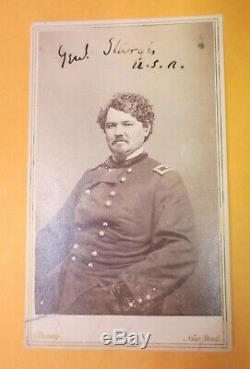Civil War AUTOGRAPHED Matthew Brady image Union Gen. Samuel Sturgis