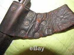 Civil War Bayonet 1855 socket bayonet & Scabbard, type three leather scabbard