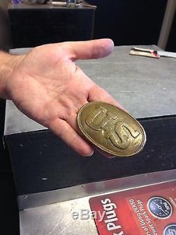 Civil War Brass US Belt Buckle Possible Antique