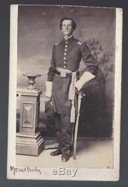Civil War CDV Captain William E Kuhn of Peoria Illinois 47th Il Vols