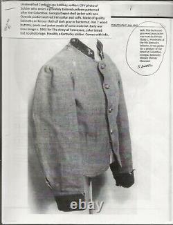 Civil War CDV Confederate, Published Image, Variant of Columbus GA Depot Jacket