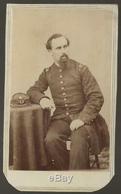 Civil War CDV Union LT Colonel Daniel Hart 7th New Jersey Vols, III Corps Badge