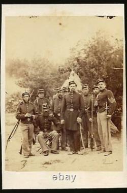 Civil War CDV Union Soldiers 29th NYVI, Capt VonNostitz, sgt Wiesner, Sgt Ziegler