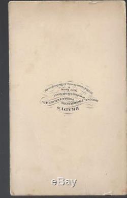 Civil War CDV of Ambrose Burnside & Staff of Rhode Island Major General 16