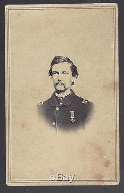 Civil War CDV of Captain James H Tallman 3rd Maine Vols With Rare Kearny Medal