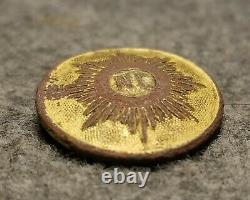 Civil War Confederate Cast North Carolina Star Button 22mm NC14 Loaded with GOLD