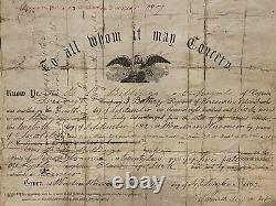 Civil War Discharge 3rd battery Wisconsin Vol, B. B. Billings, UNION ARMY