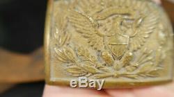 Civil War ERA Officers Belt Buckle and Belt