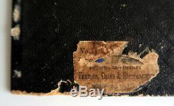 Civil War Era Abraham Lincoln CDV Photograph Antique Velvet &Silk Mourning Frame