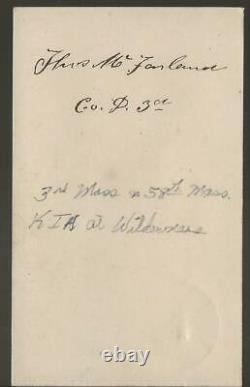 Civil War Era CDV Captain Thomas McFarland 3rd/58th Mass KIA Cold Harbor