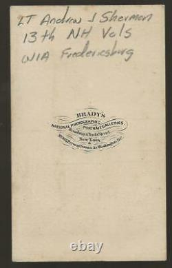 Civil War Era CDV Union Lt Andrew J Sherman 13th NH Vols, WIA Fredericksburg