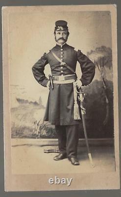 Civil War Era CDV Union Lt Thomas Saul of Templeton Mass, 25th Mass Vols