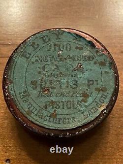 Civil War Era Eley Brothers London 100 Colts Percussion Cap Tin