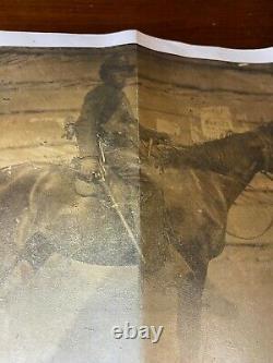 Civil War Era Tintype 1/4 Plate Union Cavalryman Holding Colt Rifle