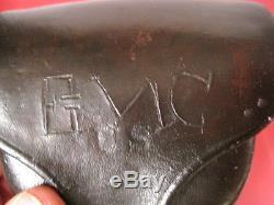 Civil War Era US Army Percussion Revolver Leather Cap Pouch Marked U. S