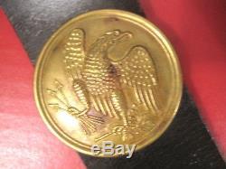 Civil War Era Union 1826 Shoulder Belt Plate withLeather Shoulder Belt Original