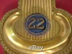 Civil War Era Union Officer's Epaulets Set in Japan Tin Box 22nd Infantry XLNT