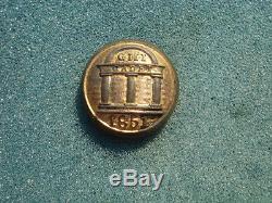 Civil War Georgia Military Institute (GMI) Button Rare 1851 SCOVILLs Backmark