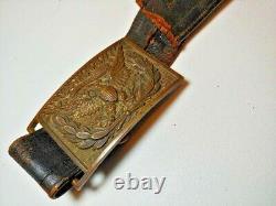 Civil War Officers Sword Belt & Plate Buckle