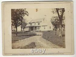 Civil War Rare Brady Album Gallery Card the White House, Residence of Col. Lee